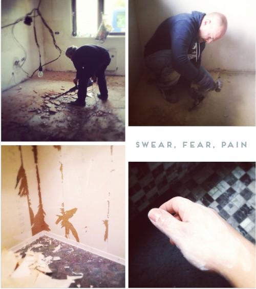 pain sweat fear