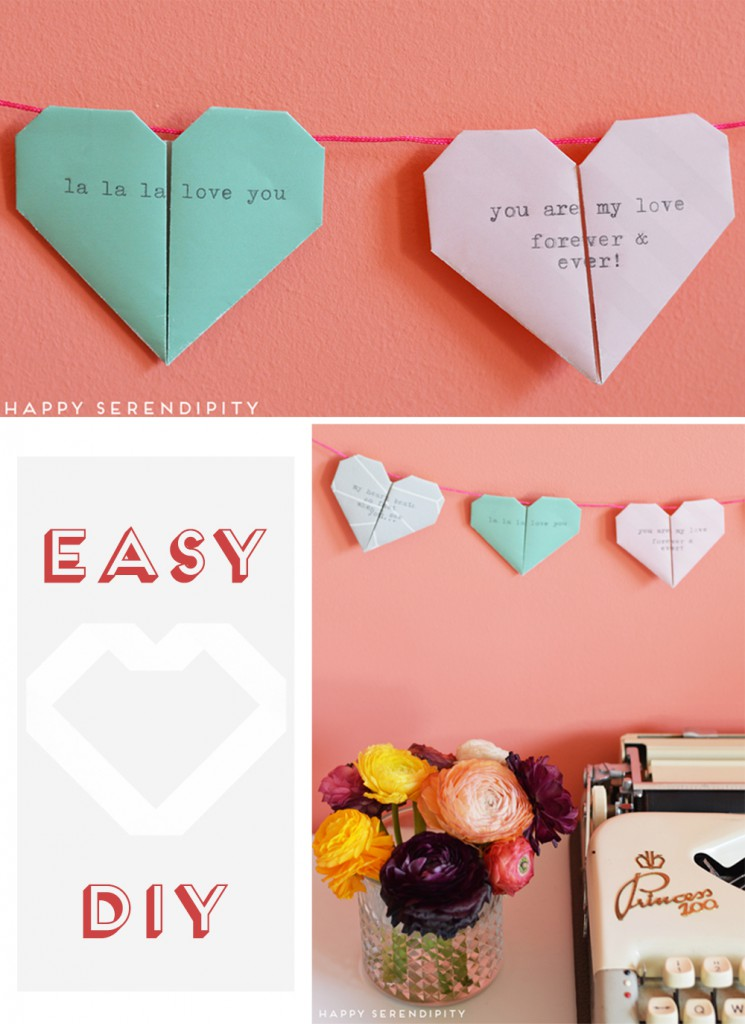 origami heart_easy diy