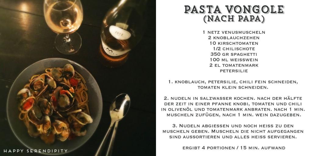 pasta vongole, pasta rezept, gekocht von happy serendipity