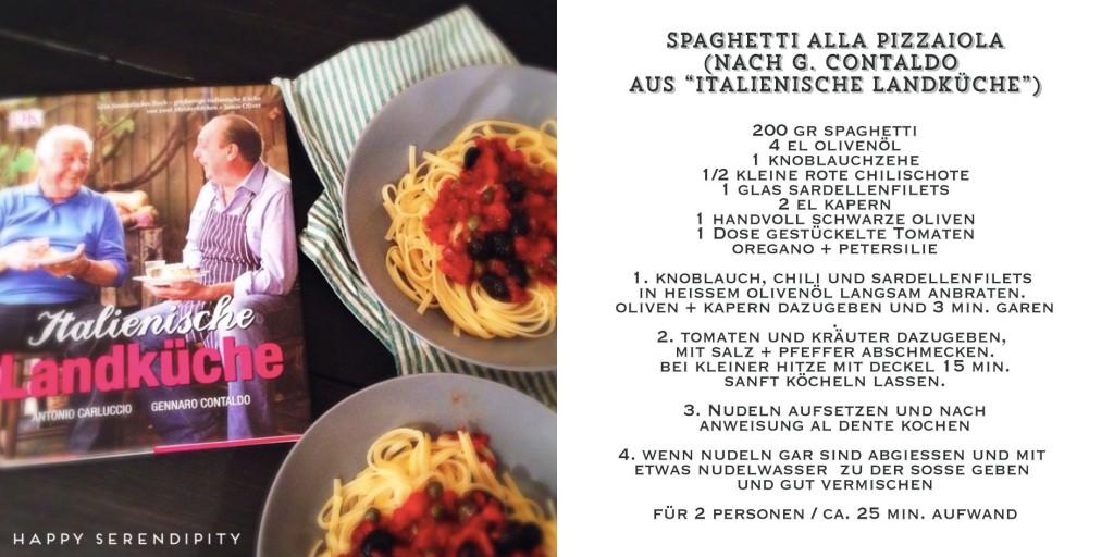 spaghetti pizzaiola, pasta rezept, gekocht von happy serendipity