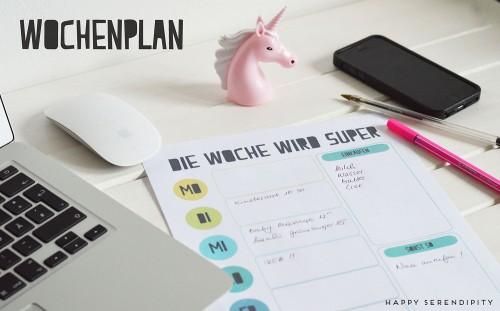 kostenloser wochenplan, freebie, organisation der woche, familien projekt management