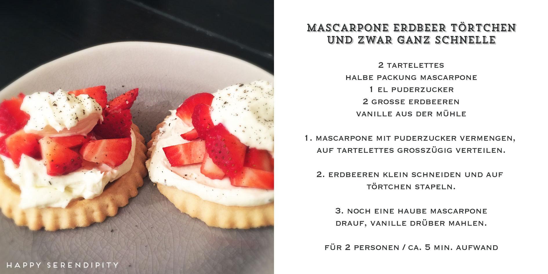 happy serendipity kocht veggie, rezept mascarpone erdbeer törtchen