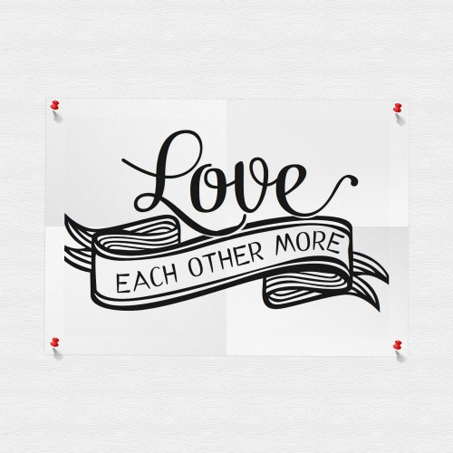 printable poster, love each other, free printable, freebie, wand deko