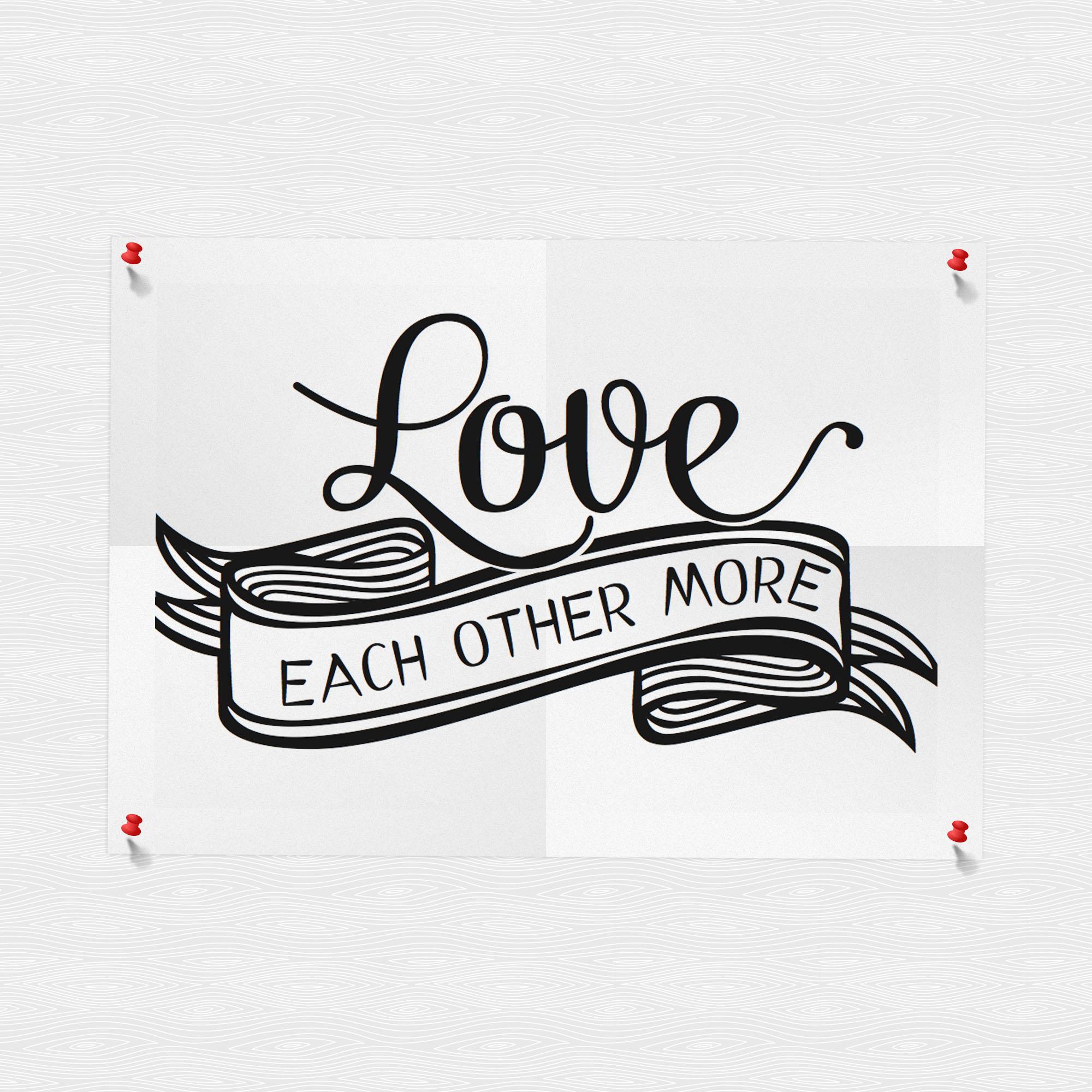 Love Each Other Or Perish: Neue Deko Für Die Wand