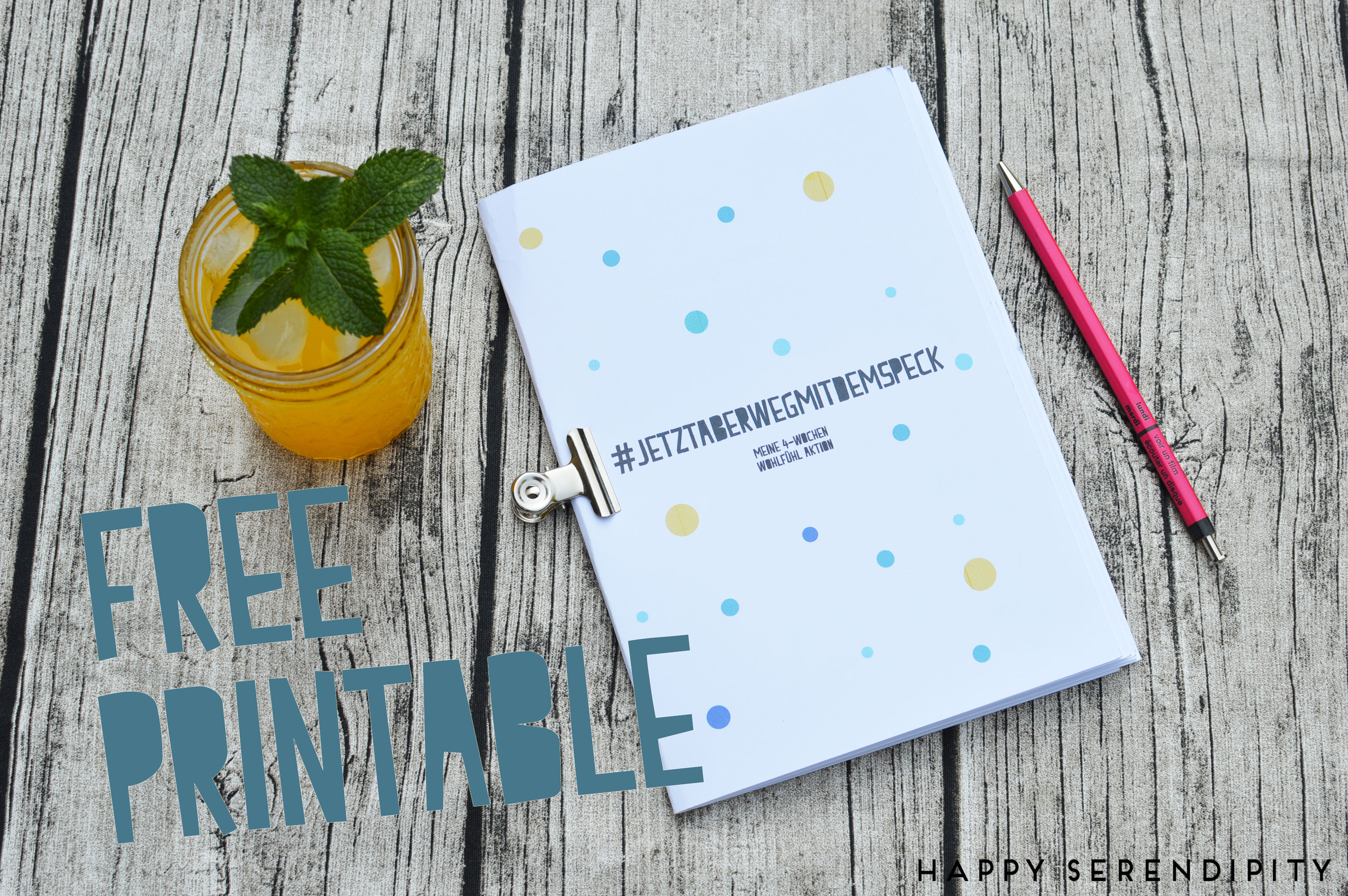 happy serendipity, free printable, freebook, kostenloser download, 4 wochenwohlfuehl aktion,