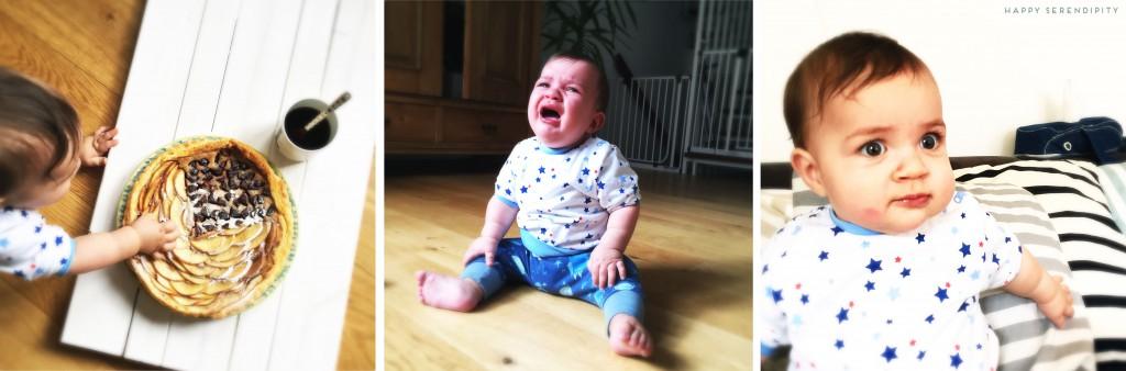 das baby nascht an der tarte