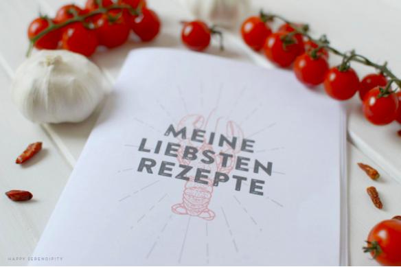 Kostenloses Rezeptbuch zum ausdrucken von Happy Serendipity
