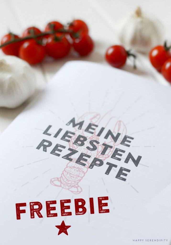 rezeptbuch freebie, kostenloses rezeptbuch zum ausdrucken, happy serendipity free digital download