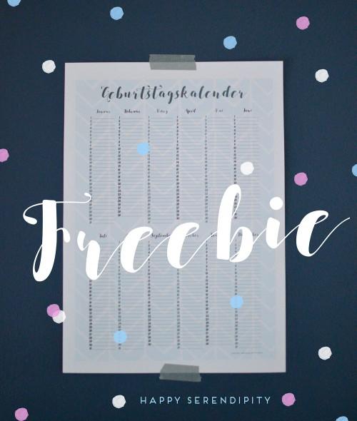 kostenloser geburtstagskalender zum herunterladen auf www.happyserendipity.com