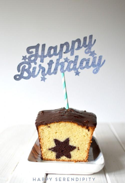 free .svg cutting file of a cake topper and a fabulous recipe for a surprise cake - in german| kostenlose plotterdatei für einen cake topper mitsamt rezept für einen leckeren überraschungskuchen | www.happyserendipity.com