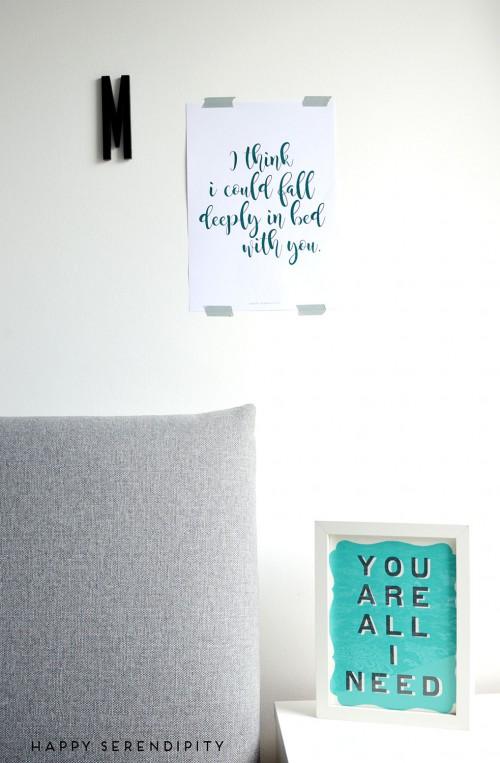 kostenloser download poster fürs schlafzimmer von happy serendipity