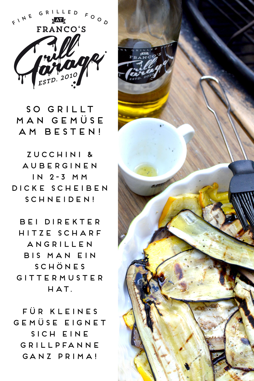 francos grillgarage, tips fürs grillen von gemüse