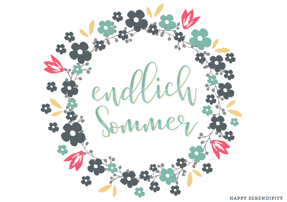 happy serendipity sommerlogo, free printable
