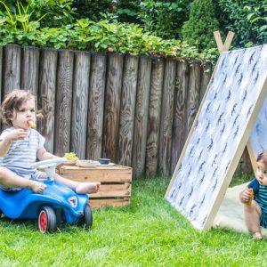 {DIY} Ein Spielehaus für das Picknick im Garten