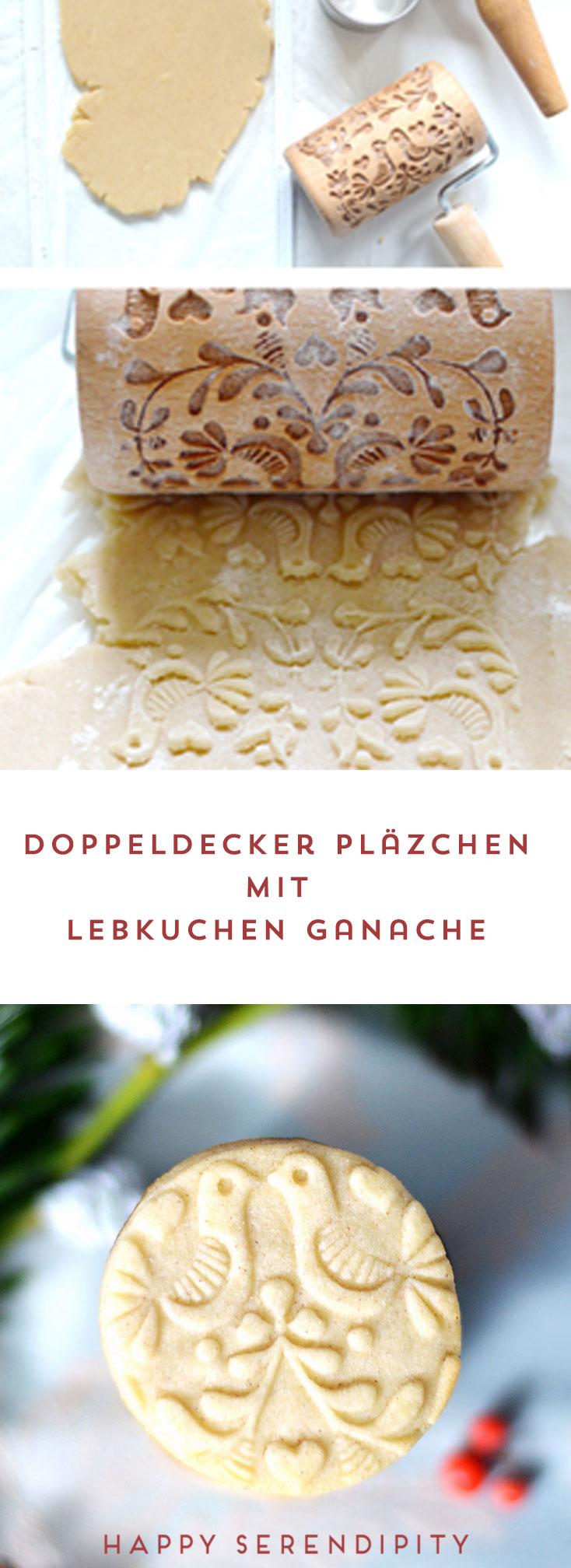 doppeldecker plätzchen mit lebkuchen ganache, ein leckeres rezept von happy serendipity