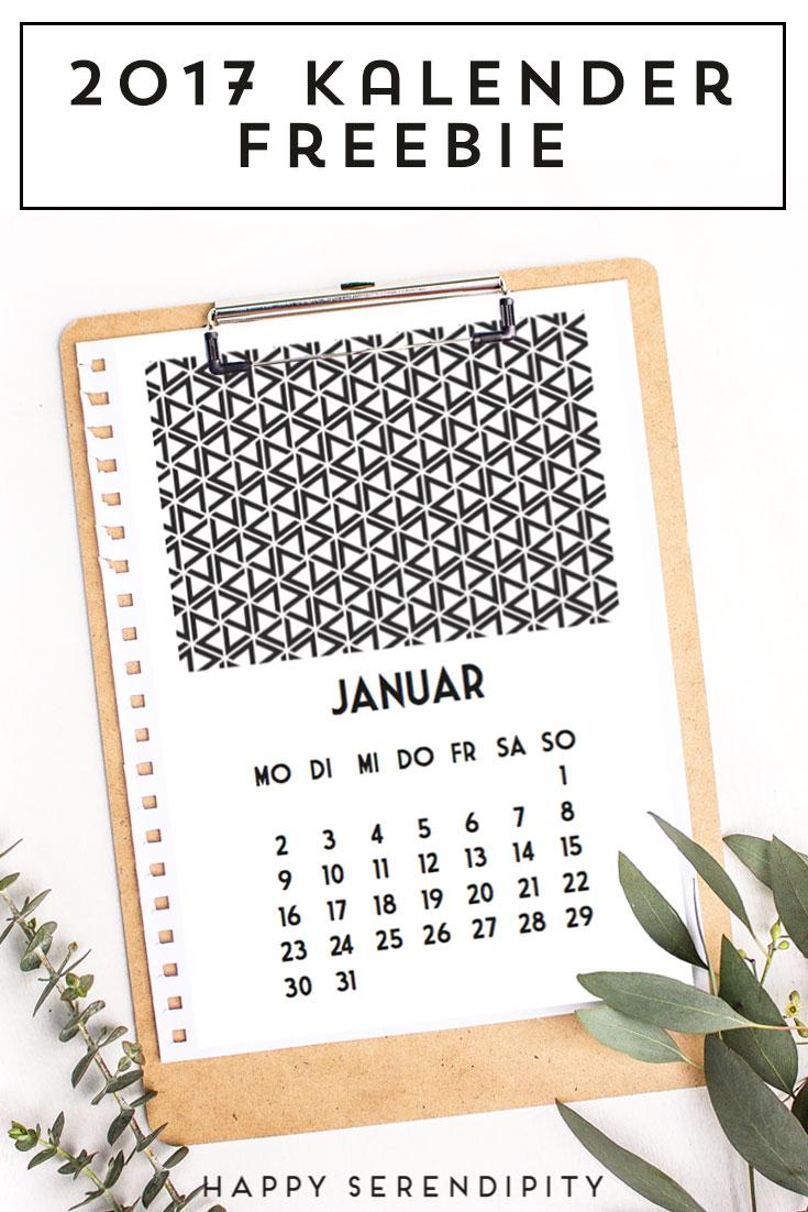 lade dir den kostenlosen kalender für 2017 runter, mit liebe gemacht von happyserendipity.com