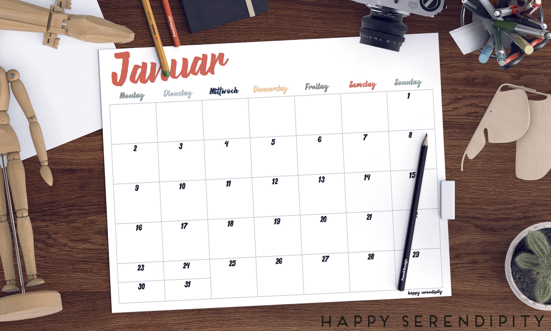 happy serendipity notizkalender 2017 exklusiv für newsletter abonnenten im januar