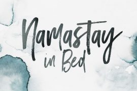 Namastay in Bed - Ein Desktop Wallpaper von Happy Serendipity