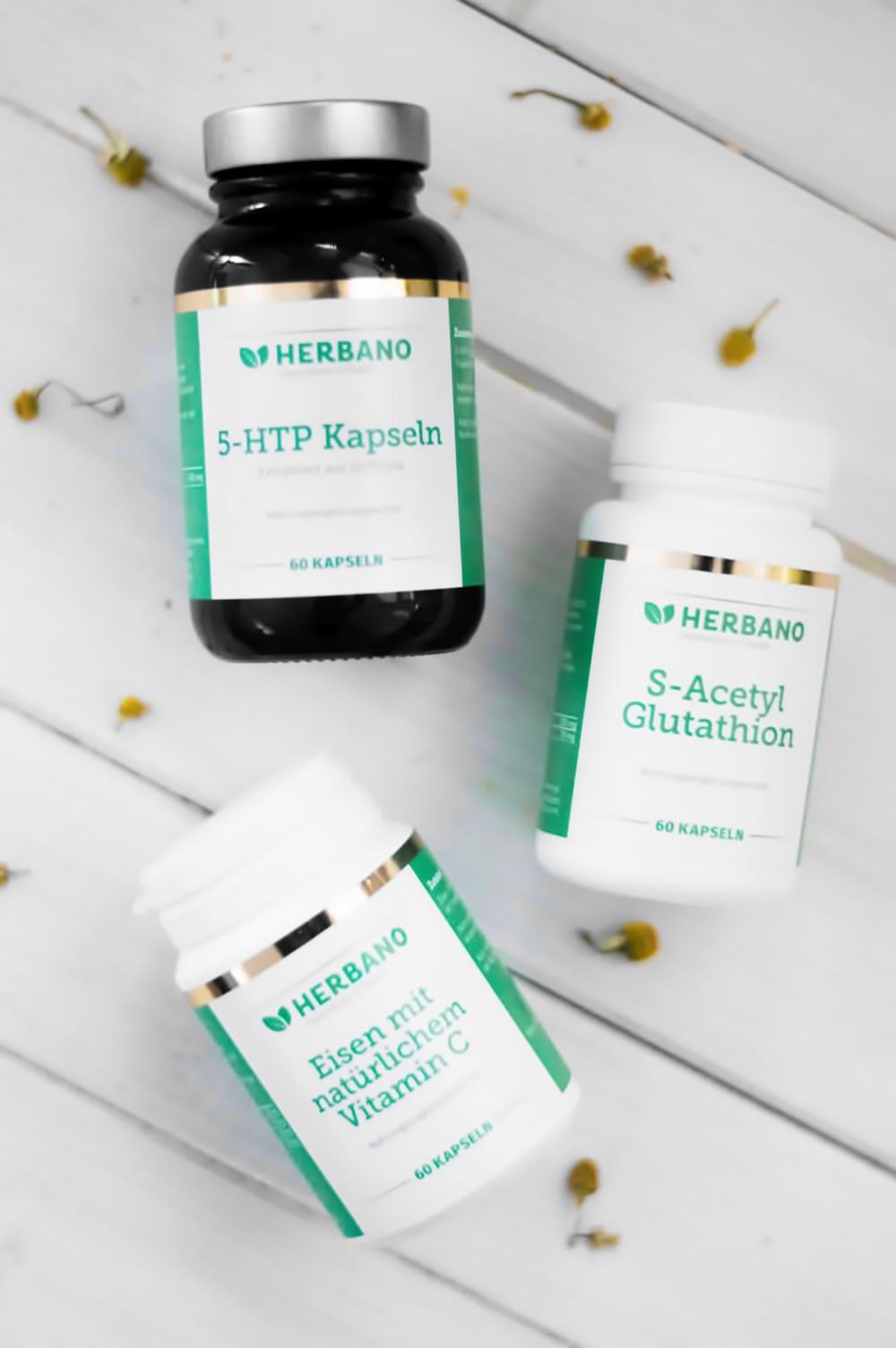 5-HTP und S-Acetyl Glutathion von Herbano | Wie ich meine Depression bekämpfe | Ein Erfahrungsbericht von Happy Serendipity