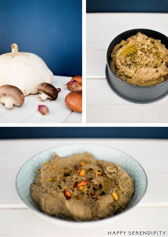 Kräuterbrot mit zweierlei Gemüsedips - ein echtes Soufood Rezept von Happy Serendipity