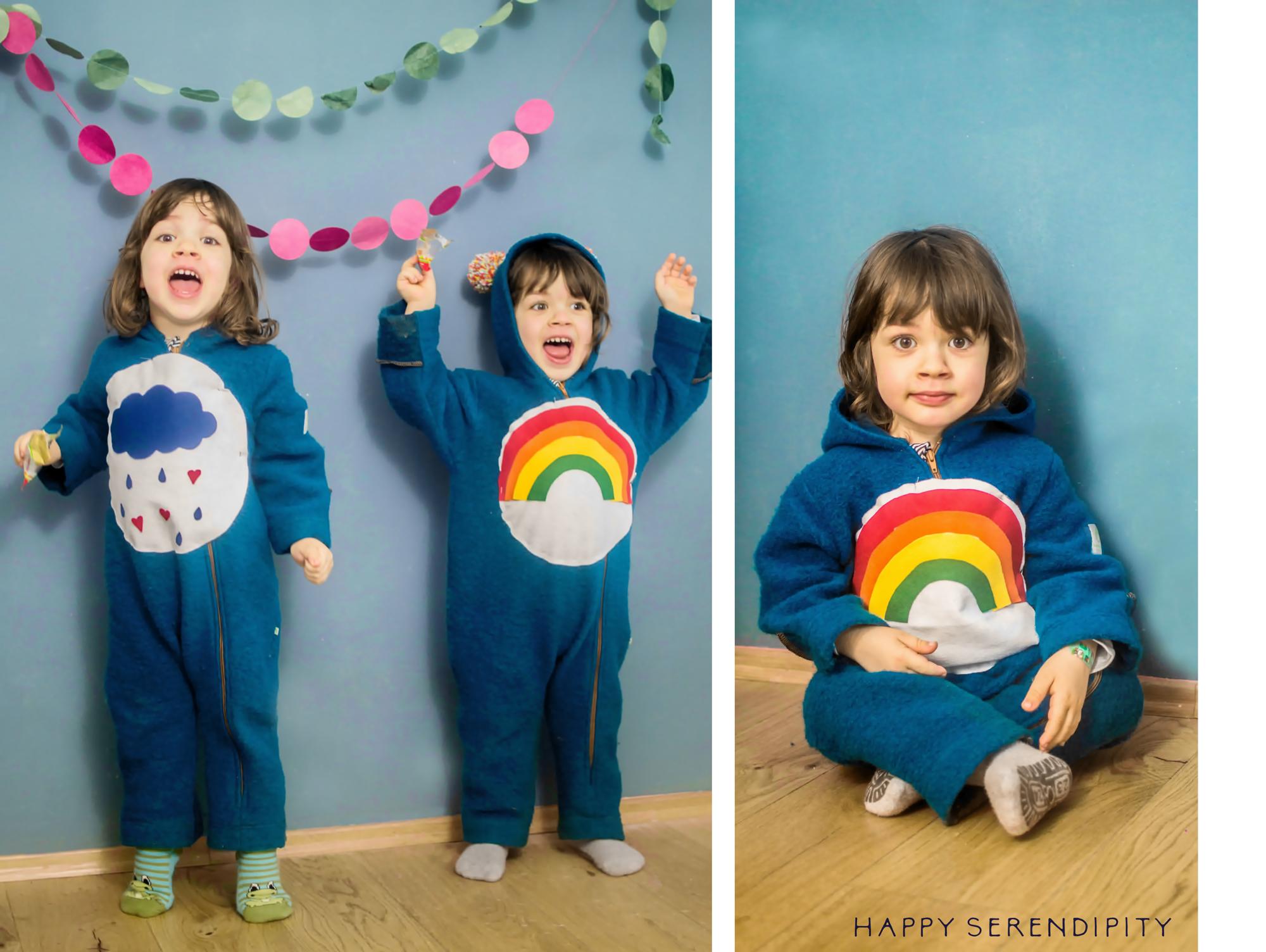 Glücksbärchis Kostüm für Kinder - Last Minute Faschingskostüm - Eine Idee von Happy Serendipity