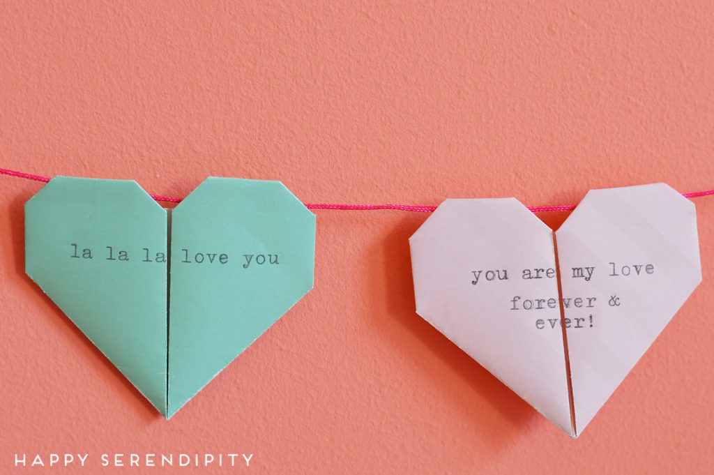 origami hearts with typo, origami hearts, origami, happy serenidpity