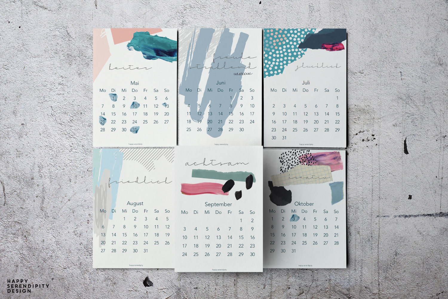 happy serendipity bildkalender 2018 - freebie download